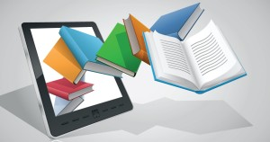 E-book reader & books