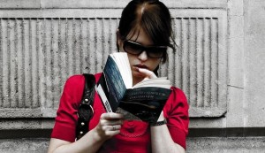 Woman Reading a Book by Paul Bence
