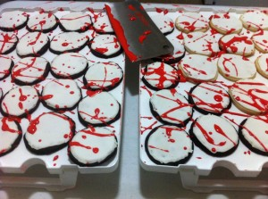 Blood Splatter Cookies