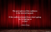 red stage curtain - audience quote