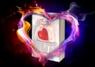flaming_heart_by_br1ana01 with Heart of Fire Book