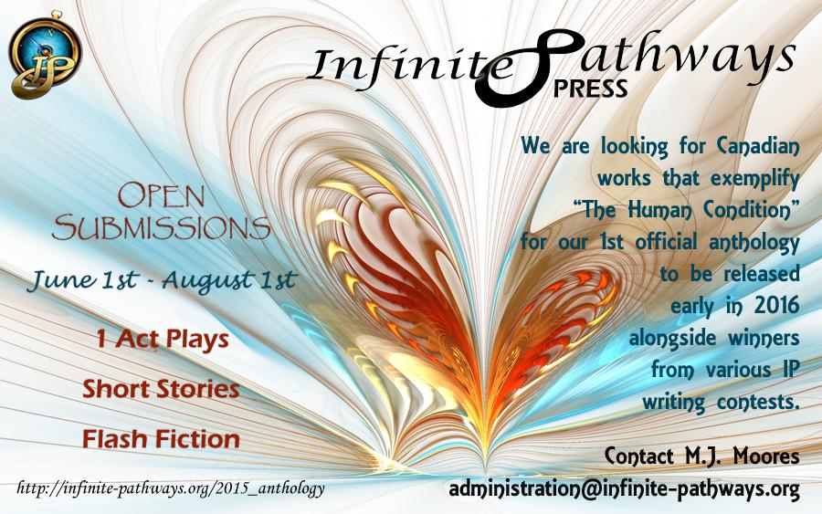 2015 Infinite Pathways Press Anthology Poster
