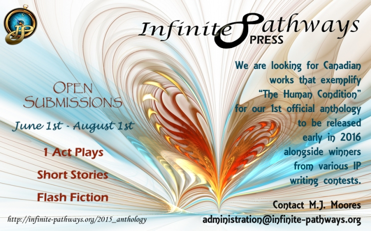 2015 Infinite Pathways Press Anthology Poster