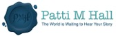 Patti M Hall logo - business card