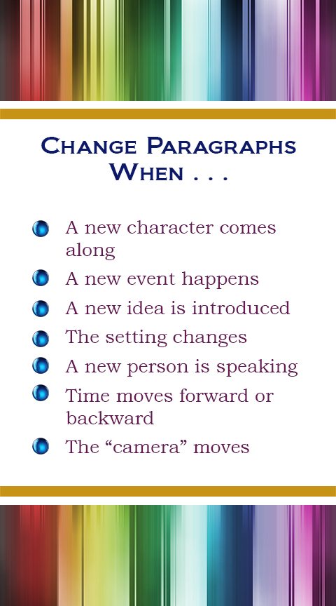 Change Paragraphs Graphic